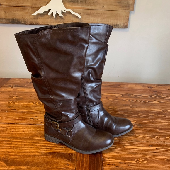 2acd3414b86 Simply Be Shoes - Heavenly Soles Wide Calf Boot - Extra Wide Width